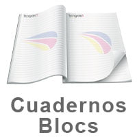 impresión de cuadernos blocs